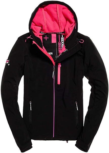 superdry damen jacke schwarz pink