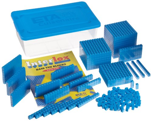 ETA hand2mind Interlox Base Ten Blocks, 161-Piece Starter Set