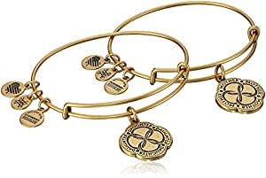 Alex and Ani Mom And Daughter Infinite Connection Set of Two Rafaelian Gold Bangle Bracelet