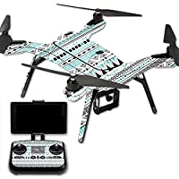 MightySkins Protective Vinyl Skin Decal for 3DR Solo Drone Quadcopter wrap cover sticker skins Turquoise Tribal
