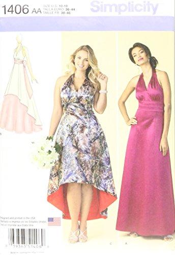 Halter Sash (Simplicity Pattern 1406 Misses Special Occasion Dress, Cummerbund and Sash, Sizes 10-12-14-16-18)