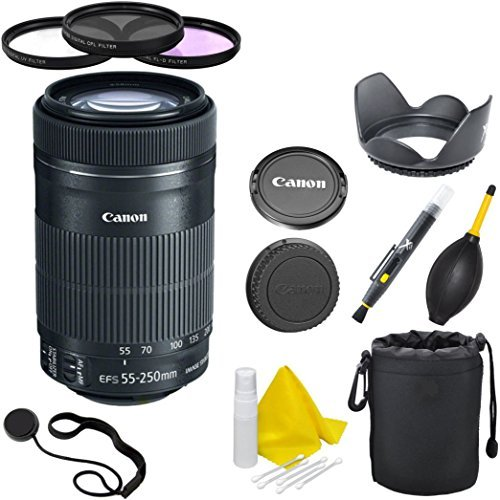- Canon EF-S 55-250mm F4-5.6 IS STM CT Deluxe Lens Kit for Canon SLR Cameras
