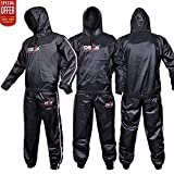 DEFY Heavy Duty Sweat Suit Sauna Exercise Gym Suit Fitness, Weight Loss, Anti-Rip, with Hood (Medium)