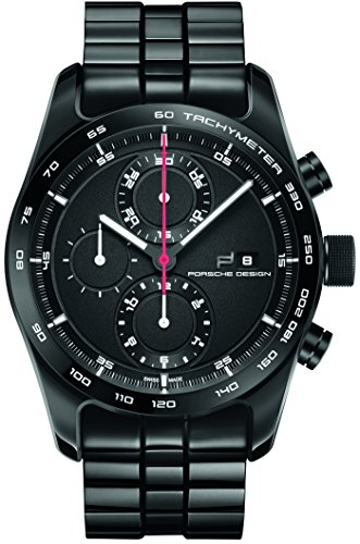Porsche Design Chronotimer Series 1 Automatic Watch, Polished titanium,Black