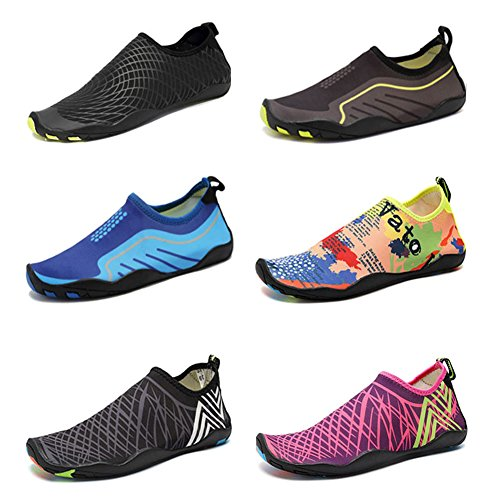 new CIOR Men and Women s Barefoot Quick-Dry Water Sports Aqua Shoes with 14  Drainage 386173c73
