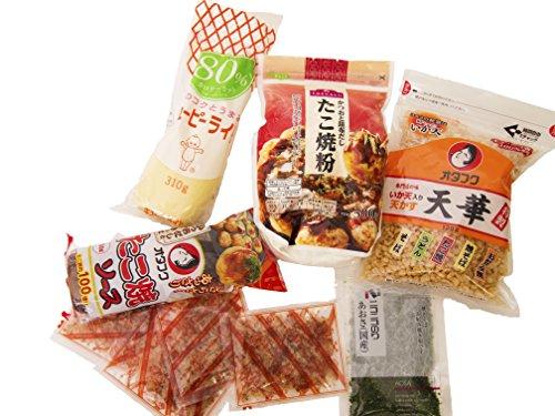 Otafuku sauce + Otafuku Tenkasu + Takoyaki kit + Aonori Flakes (Seaweed) for Takoyaki