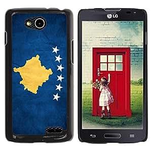 Caucho caso de Shell duro de la cubierta de accesorios de protección BY RAYDREAMMM - LG OPTIMUS L90 / D415 - Kosovo Grunge Flag
