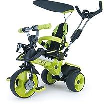 Injusa - Triciclo evolutivo City para bebés de 8 meses, con control parental y cinturón de seguridad (3263)
