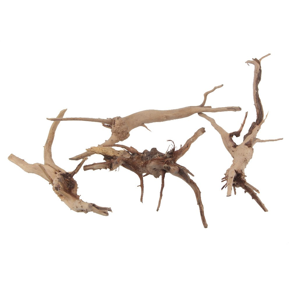 Emours Natural Driftwood Vine Branches Reptiles Aquarium Decoration Assorted Sizes,Small,4 Pieces