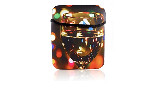 Amazon.com: eDealMax 10 Pulgadas Resumen luz Con Puntos de Taza de vino Impreso caja de la PC de la Manga de: Electronics