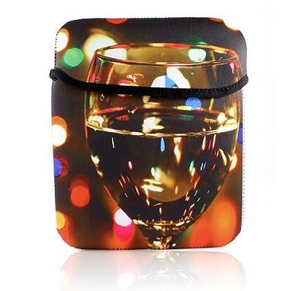 eDealMax 10 Pulgadas Resumen luz Con Puntos de Taza de vino Impreso caja de la PC