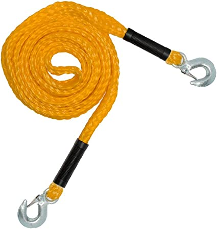 Kwik Tek TS-12 ATV Tow Strap with Shackle and Mesh Bag