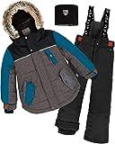 Deux par Deux Boys' 2-Piece Snowsuit Back to Cool Black, Sizes 5-14 - 10