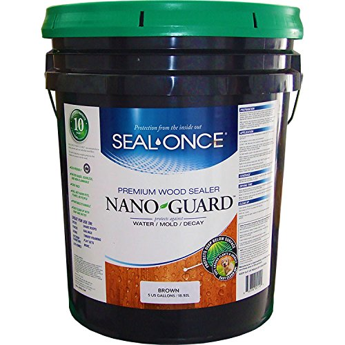 Seal Once 3112 premixed Nano Guard Premium Wood Sealer Brown 5-gallon by Seal Once