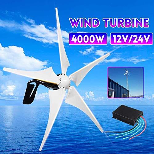 Haosan Wind Generator 4000W 5 Wind Blades Horizontal Wind Generator with Controller Wind Turbines Blade 12V/24V,24V