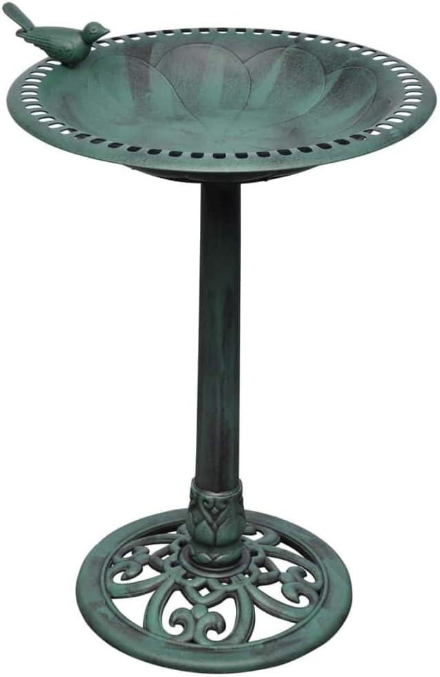 vidaXL Fuente para pájaros con Ave Decorativa Fuente de jardín Decoración de jardín