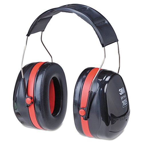 (3M Peltor Optime 105 Over the Head Earmuff, Ear Protectors, Hearing Protection, NRR 30 dB)