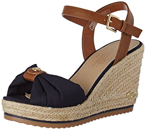 TOM TAILOR Damen 2790206 Riemchensandalen Blau (Navy)