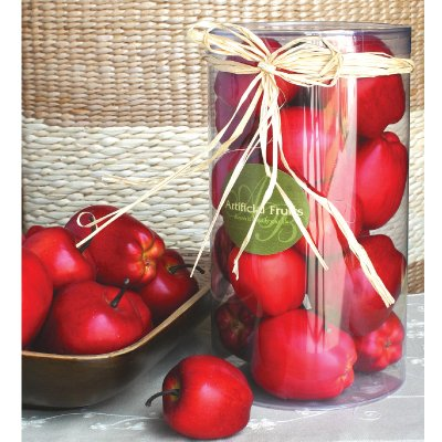 Artificial Red Apple In Box