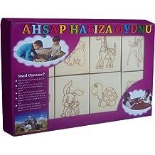 Serra Baby Wooden Memory Oyunu-Hayvanlar
