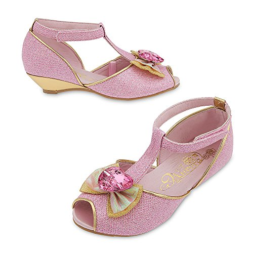 [Disney Aurora Costume Shoes for Kids Size 9/10 YTH Pink] (Costumes Shoes For Kids)