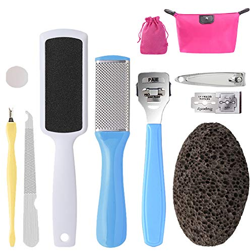 PRETTY SEE 10 in 1 Foot File Callus Remover Stainless, used for sale  Delivered anywhere in USA