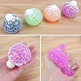 Mesh Squishy Ball Super Big 7.5cm Rubber Vent Grape Stress Ball Hand Wrist Toy Stress Relief Squeeze Toy Stress Relief Ball (4PCS)