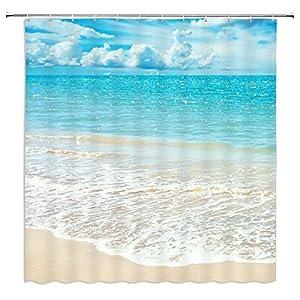 51fbvZTMoYL._SS300_ 200+ Beach Shower Curtains and Nautical Shower Curtains