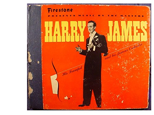 Rare Very Nice Harry James Firestone Tires Promo Issue 4 Disc 10 Inch 78 rpm & Original Book Type Cover - Firestone Presents Music By The Masters - Philharmonic Records #17