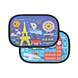 2 Pack Car Window Shade Cling Sunshade Auto Sunshades Protectors Protection Your Kids and Pets Side Window Car Sun Shades Travel around the world