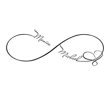Custom Wall Decals Infinity Sign Heart Symbol Decal Family Name