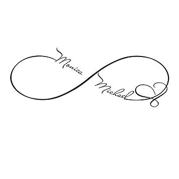 Personalizado adhesivos Símbolo de Infinito De corazón Símbolo de ...