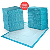 REMEDIES Underpads Disposable Super Absorbent Bed Protection, Large 30' X 36', 85 Gram, 3g SAP 100 Count