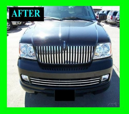 LINCOLN NAVIGATOR 2005-2006 LOWER CHROME GRILLE GRILL KIT 05 06 LIMITED LUXURY ULTIMATE ELITE