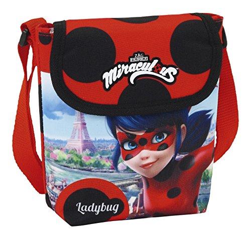 Safta Ladybug Borsa Messenger, 17 cm, Rosso (Rojo)