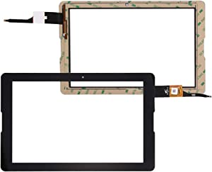 "TheCoolCube Touch Digitizer Replacement Screen Glass Compatible with Acer Iconia One 10 B3-A20 10.1"" (Not Include LCD) (Black)"