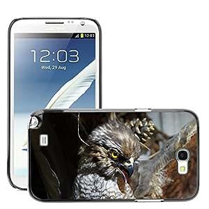 GoGoMobile Slim Protector Hard Shell Cover Case // M00124206 Raptor Stuffed Close Bird Buzzard // Samsung Galaxy Note 2 II N7100