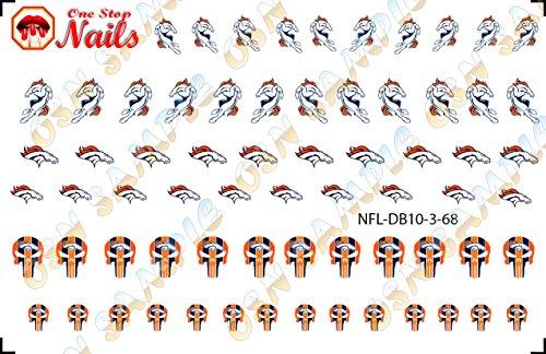 Denver Broncos Waterslide Nail Decals V3 (Set of 68) -