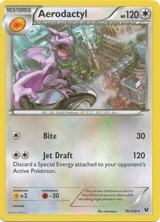 Pokemon - Aerodactyl (76/124) - XY Fates (Kabutops Pokemon Card)