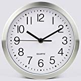 HOMEE Simple Creative 8-Inch Mute Wall Clock Bedroom Little Wall Clock Fashion Kitchen Electronics Wall Clock (Color Optional),A