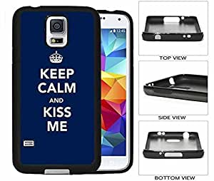 Keep Calm and Kiss Me Galaxy S5 Rubber (TPU) Back Case