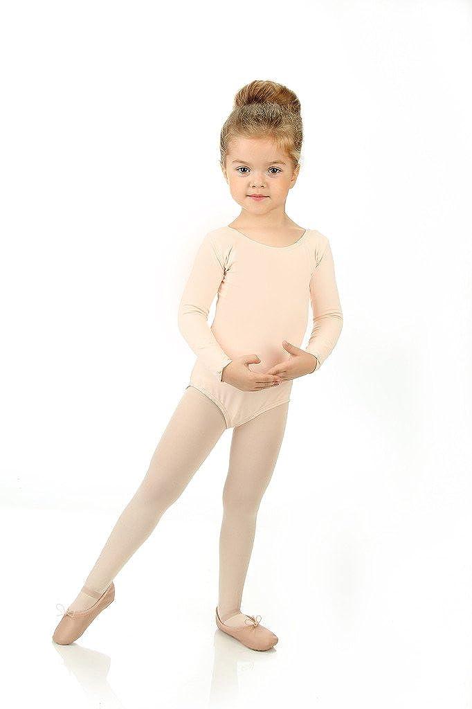Elowel Kids Girls Basic Long Sleeve Leotard Size 2-14 Years Multiple Colors