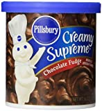 Pillsbury Creamy Supreme Frosting Chocolate Fudge, 16-Ounce (Pack of 8)