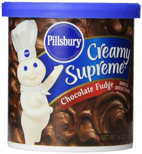 Pillsbury Creamy Supreme Cake and Cupcake Frosting, Chocolate Fudge, 16 Ounce (Pack of 8) (Best Chocolate Fudge Frosting)