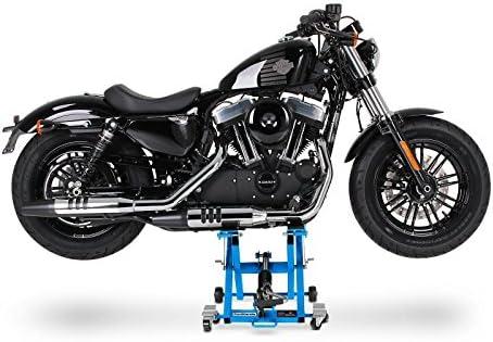 ConStands-Motorrad Hebeb/ühne Yamaha XVS 950//1300 A Midnight Star Hydraulisch XL inkl Distanzst/ücke 500 kg Blau