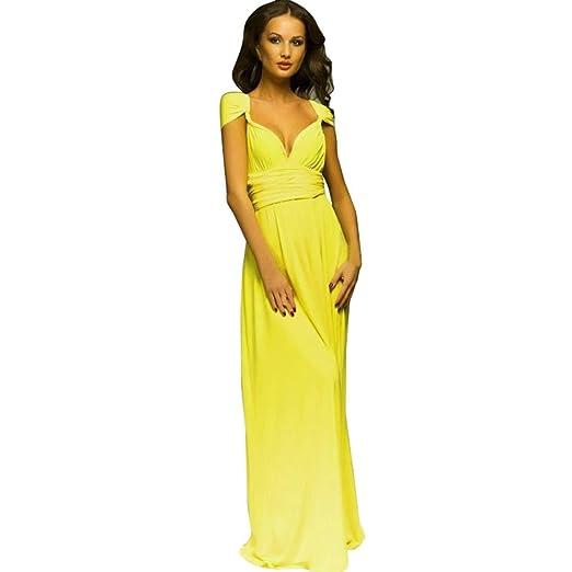 Yesmile 💋💝Vestido Las Mujeres Vestido de Noche Convertible Multi Way Abrigo Dama de Honor Vestido Largo Regalos de Gala de Fiesta (Rosa, M): Amazon.es: ...