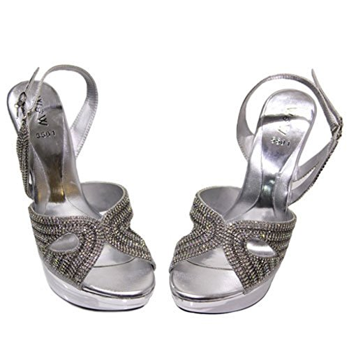 Wear Mujer De Uk Vestir amp; Plata Para Sandalias Walk rqx0B1Uwzr