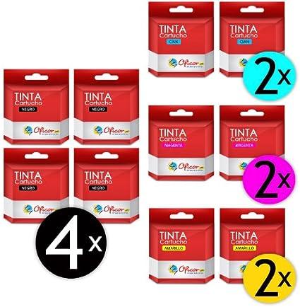 Pack de 10 Cartuchos de Tinta Oficor T0441 / T0442 / T0443 / T0444 genéricos compatibles con impresoras Epson Stylus C64 / Stylus C66 / Stylus C84 / Stylus C86 / Stylus CX3650 / Stylus CX6401: Amazon.es: Electrónica