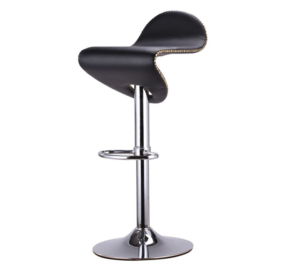 A YJXJJD Creative Bar Stool, Bar Wrought Iron High Stool redating Cafe Counter High Back Wood Front Kitchen Chair European High 58-80 cm (color   A)