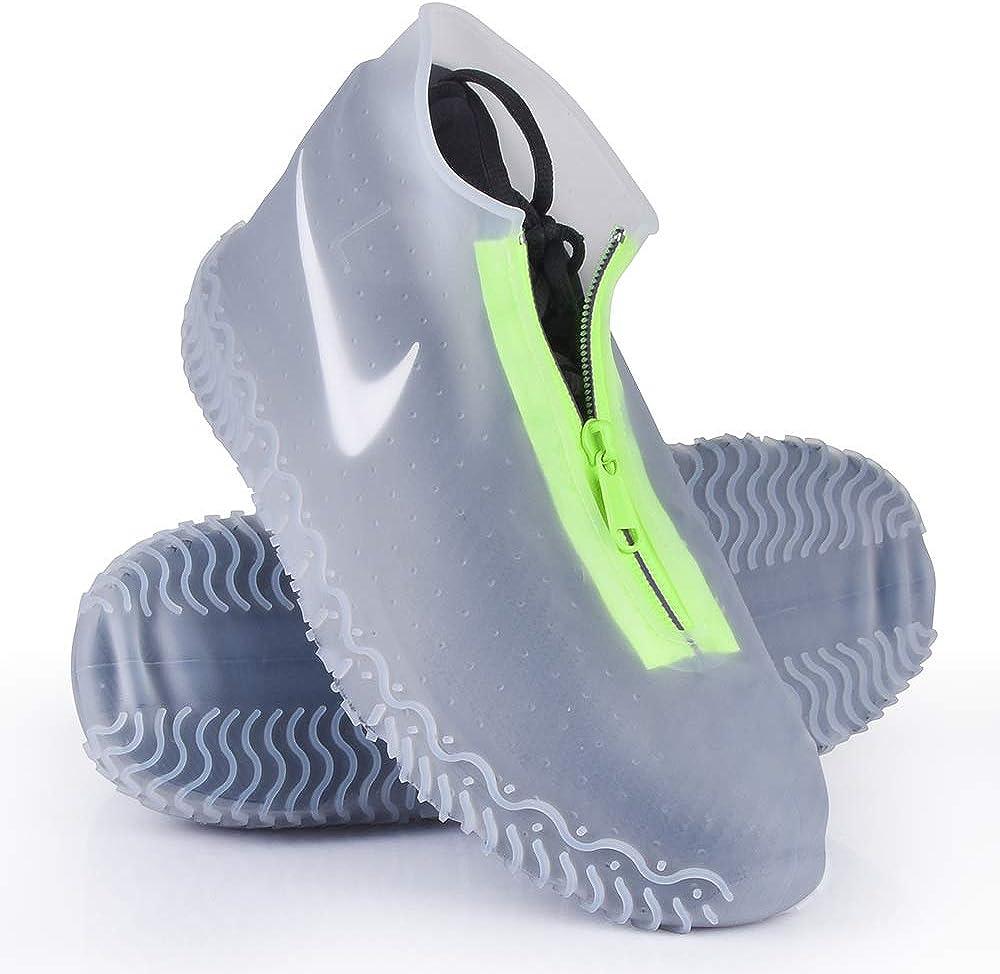 ydfagak Cubierta del Zapato, Zapatos con Suela Antideslizante y Diseño de Cremallera, Funda de Zapato Reutilizable & Impermeable para Días de Lluvia y Nieve
